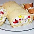rolada śnieżna 45zl #ciasto #wypieki #wypiekimielec #mielec #ciastonazamówienie #deser #święta #ciasta #CiastaNaZamówienie #WypiekiMielec #Mielec