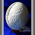 Pisanka-Tulipany- rzeźba na strusim jajku- BogAżurowa pisanka. Gęsia wydmuszka. #ażurowa pisanka #pisanki #wielkanoc #gęsiejajo #jajka #wydmuszki #pisanka #ażurek #koronkowe#Goleń #