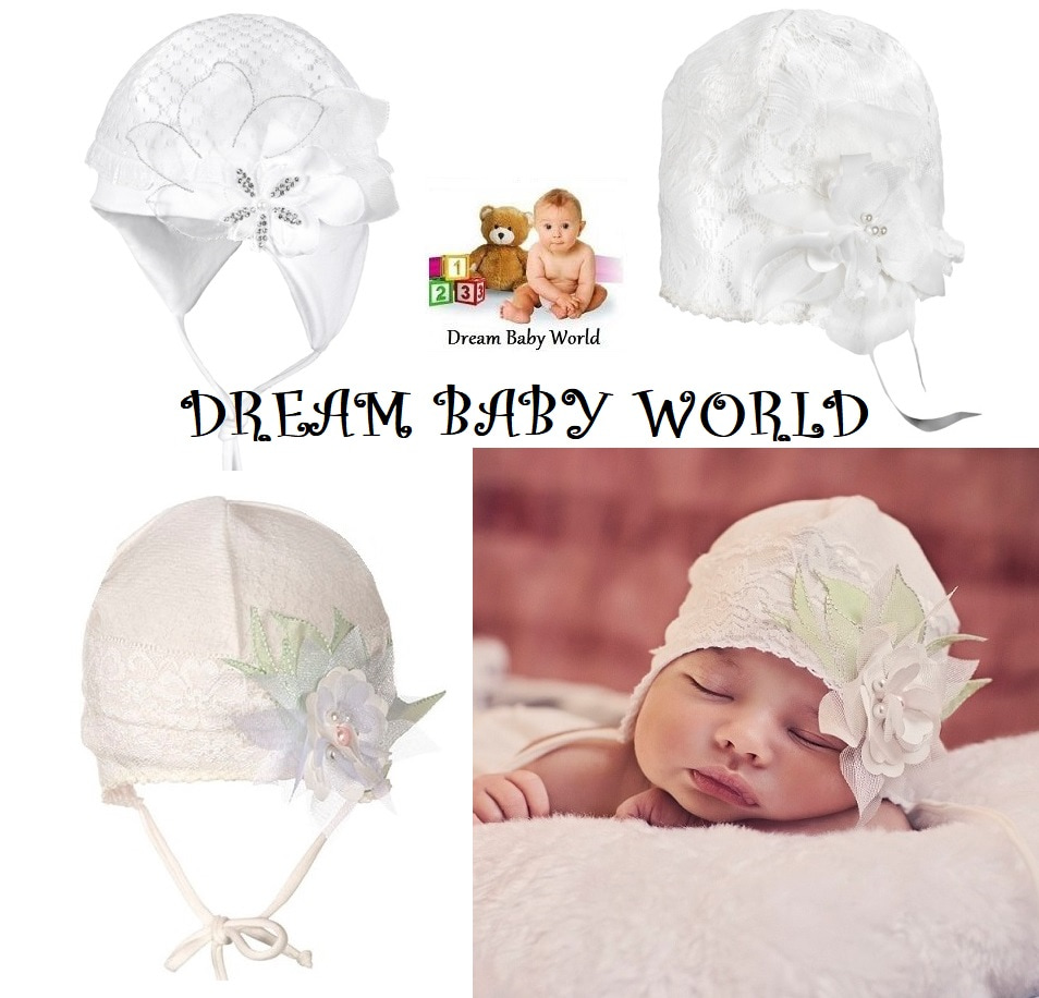 Rich cotton baby girls TIE UP hat SPRING size 0-18 months KIDS toddler CAP