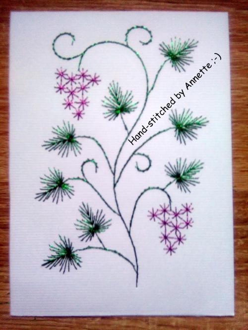 Haft matematyczny - na podstawie wzoru ze stitchingcards.com