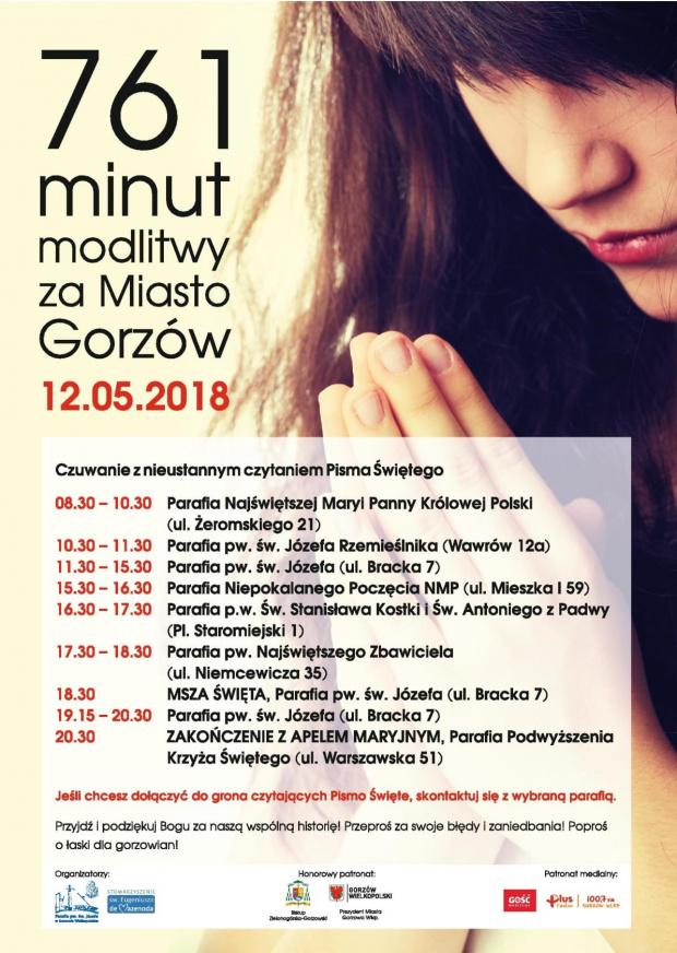 761 minut modlitwy za miasto Gorzów