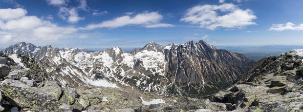 Panorama ze Sławkowskiego Szczytu.