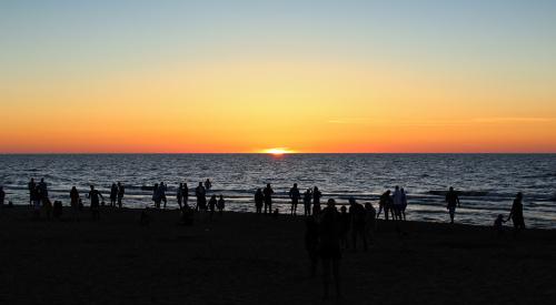 Podziwiając ostatnie promyki słońca