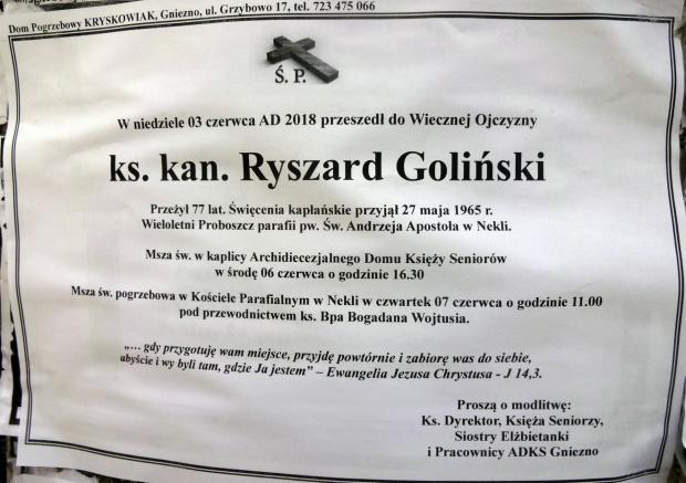 Ks. kan. Ryszard Goliński 1947 2018