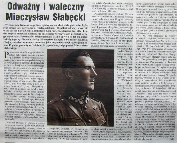 Mieczysław Słabęcki #Gniezno #powstaniec