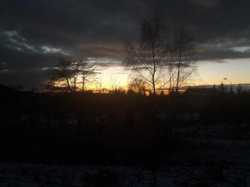 #slonce #zachod #wieczor #krajobraz #zima