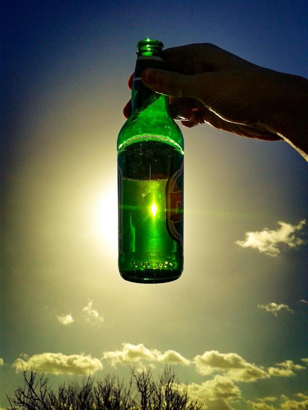 #piwko #piwo #plener #piwkowplenerze #policja #słońce #chmury #niebo #butelka #beer #sky #sun #relax #perła