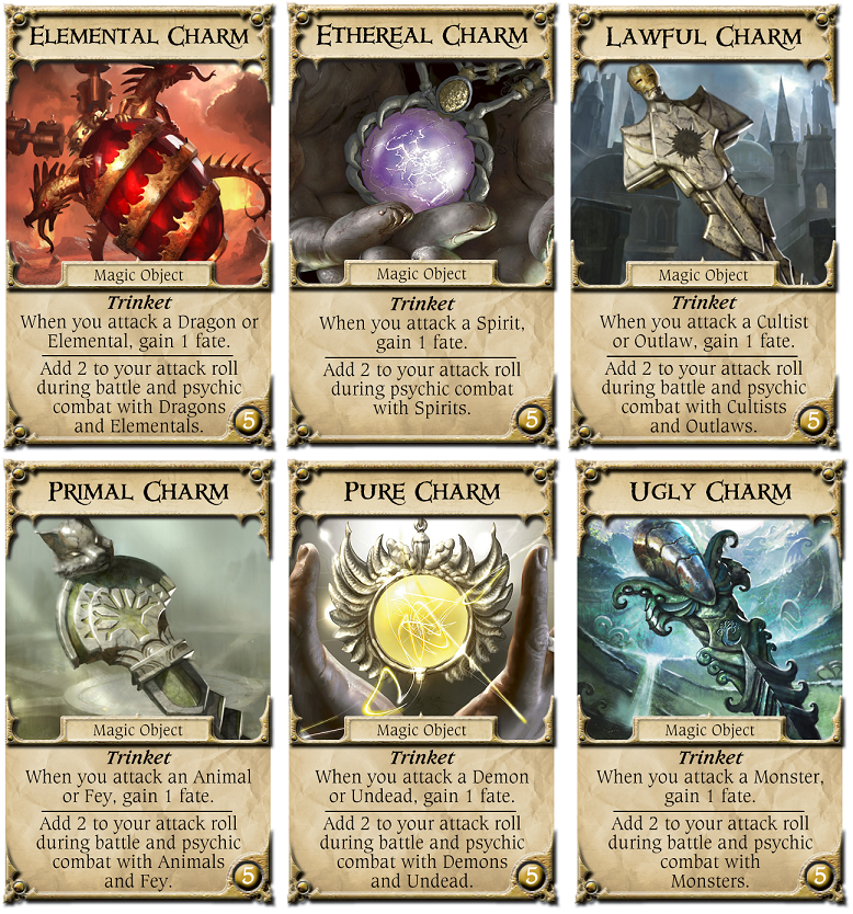 New shop deck - charms | Talisman (Revised 4th Edition