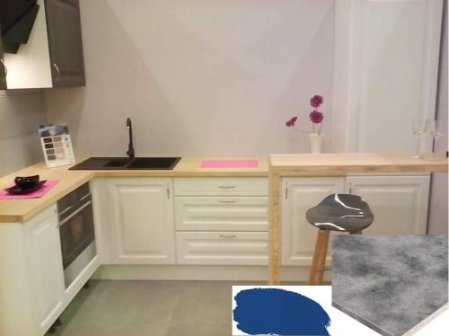Cudowna Jaki kolor blatu i zlewu do białych mebli kuchennych i błękitnych UN54