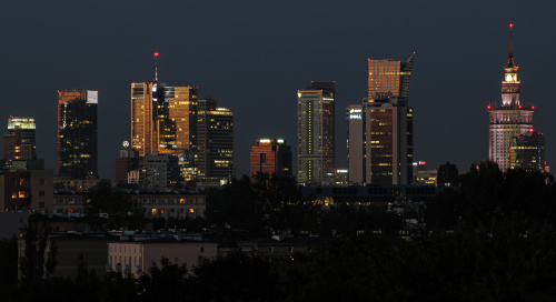 Warszawa wieczorową porą