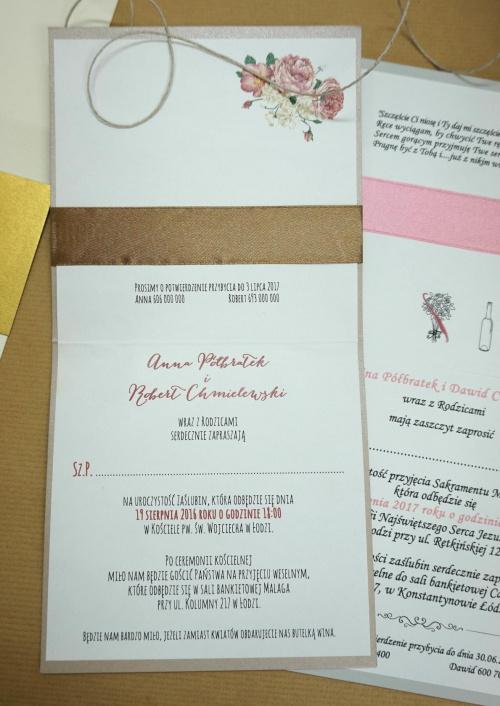 zaproszenie ślubne z przykładowym tekstem