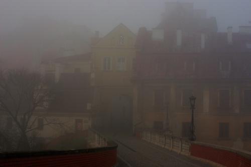 Lublin w porannej mgle