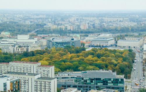 Park Saski w odcieniach jesieni.