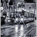 Kraków #wieczor #deszcz #tramwaj #ulica