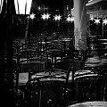Po deszczu #krzesła #lampy #wieczór #Kraków