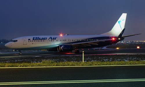 Blue Air - samolot wypożyczony przez LOT do lotów po Europie
